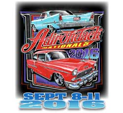 Adirondack Nationals 2016 shirt logo has 2015 car show winners on it