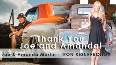 2018 event VIP guests Thank you Joe and Amanda Martin from IRON RESTORATION