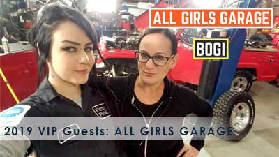 2019 event VIP guests ALL GIRLS GARAGE
